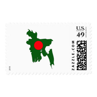 Bangladesh flag map postage