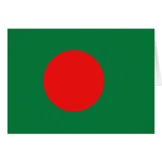 Bangladesh Flag Notecard