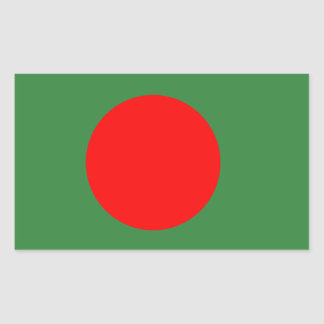 Bangladesh Flag Rectangular Sticker