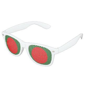 Bangladesh Flag Retro Sunglasses