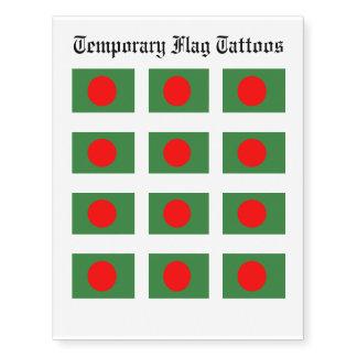 Bangladesh Flag Temporary Tattoos