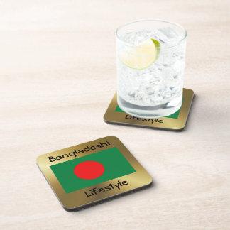 Bangladesh Flag+Text Coaster