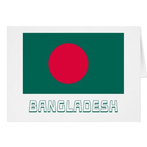 Bangladesh Flag with Name Greeting Cards