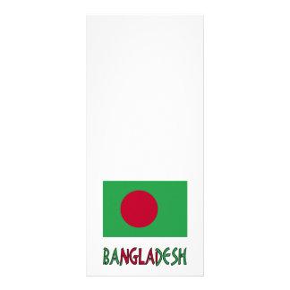 Bangladesh Flag & Word Rack Card
