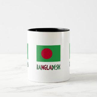 Bangladesh Flag & Word Two-Tone Coffee Mug