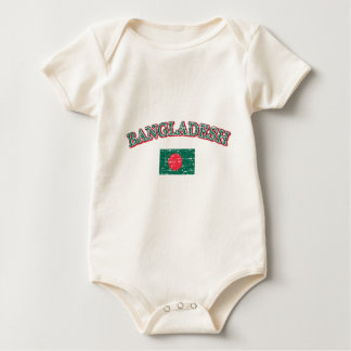 Bangladesh football design baby bodysuit