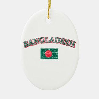 Bangladesh football design christmas ornament