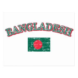 Bangladesh football design postcard