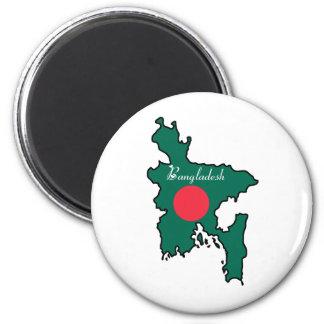 Bangladesh fresco imán redondo 5 cm