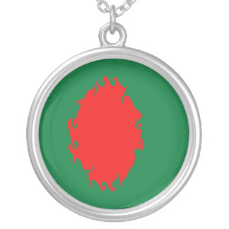 Bangladesh Gnarly Flag Silver Plated Necklace