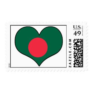 Bangladesh Heart Stamps