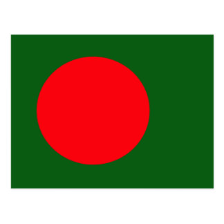 Bangladesh High quality Flag Postcard
