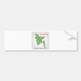 Bangladesh Independence day- March 26 Bumper Sticker