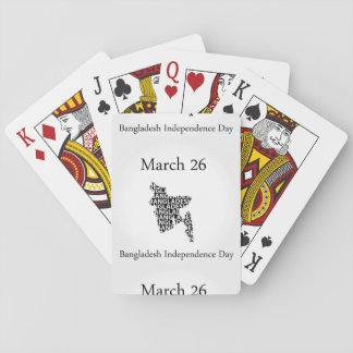 Bangladesh Independence day- March 26 Playing Cards