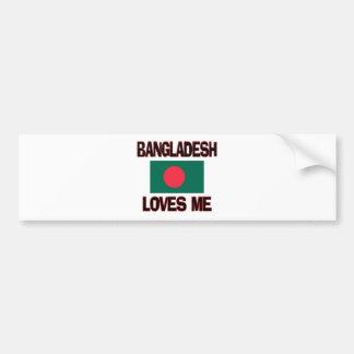 Bangladesh Loves Me Car Bumper Sticker