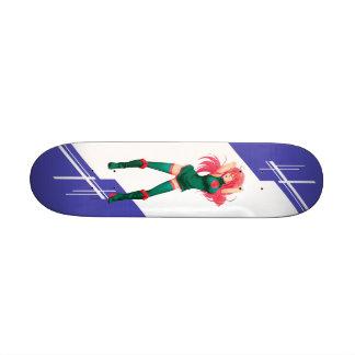 Bangladesh Manga girl dressed in Flag Skateboard