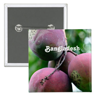 Bangladesh Mango Tree Pinback Button