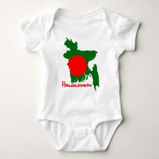 Bangladesh map baby bodysuit