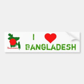Bangladesh map bumper sticker