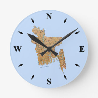 Bangladesh Map Clock