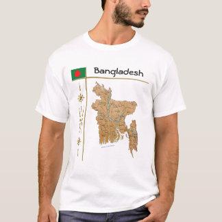 Bangladesh Map + Flag + Title T-Shirt