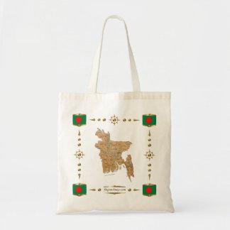Bangladesh Map + Flags Bag