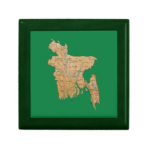 Bangladesh Map Gift Box