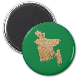 Bangladesh Map Magnet