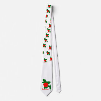 Bangladesh map neck tie