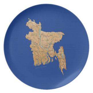 Bangladesh Map Plate
