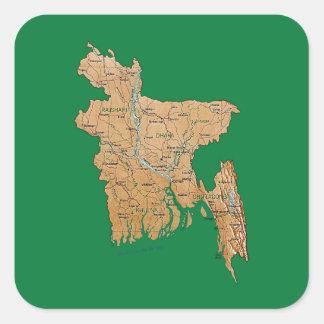 Bangladesh Map Sticker