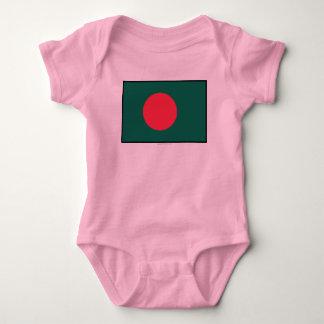 Bangladesh Plain Flag Baby Bodysuit