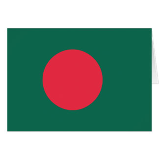 Bangladesh Plain Flag Card