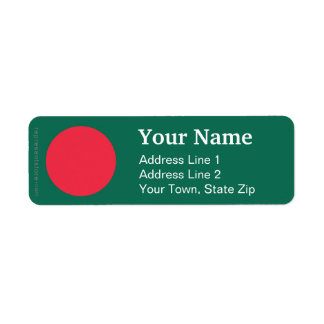 Bangladesh Plain Flag Label