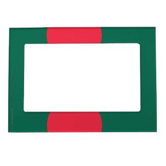 Bangladesh Plain Flag Magnetic Picture Frame