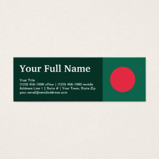 Bangladesh Plain Flag Mini Business Card