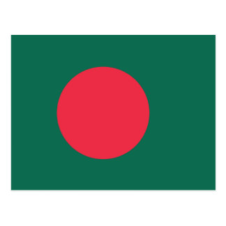 Bangladesh Plain Flag Postcard
