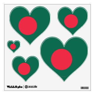 Bangladesh Plain Flag Wall Sticker