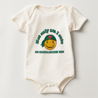 Bangladesh smiley flag designs baby bodysuit