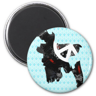 Bangladesh Trendy Peace Sign with Bangladeshi map 2 Inch Round Magnet