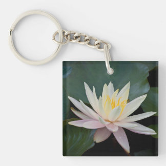 Bangladesh Water Lily Acrylic Keychains