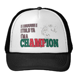 Bangladeshi and a Champion Trucker Hat
