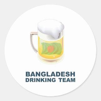 Bangladeshi Drinking Team Classic Round Sticker