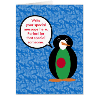 Bangladeshi Holiday Mr. Penguin Card