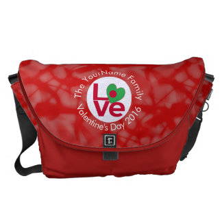 Bangladeshi LOVE White on Red Courier Bag