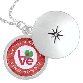 Bangladeshi LOVE White on Red Locket Necklace