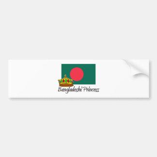 Bangladeshi Princess Car Bumper Sticker