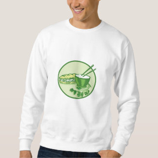 Banh Mi Rice Bowl Coriander Circle Retro Sweatshirt