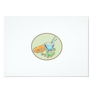 Bánh Mì Sandwich and Rice Bowl Drawing Card