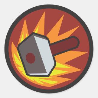Banhammer Pegatina Redonda